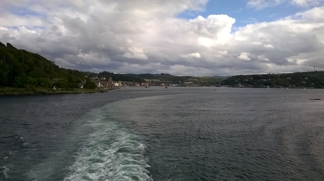 Leaving Oban...