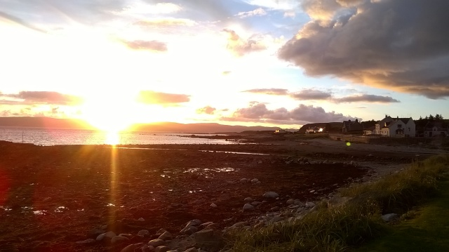 Sunset at Blackwaterfoot, Arran