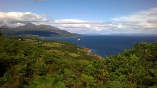 Back towards Brodick from Clauchlands
