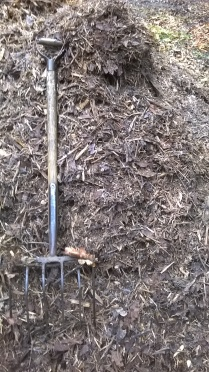 This Sugar Beet Fork was perfect for shifting the bark...