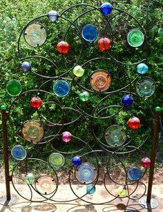 Recycled glass gate