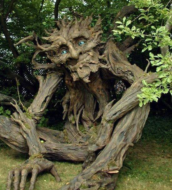 A Tree Troll by Kim Beaton, inspired by her father from Montana!