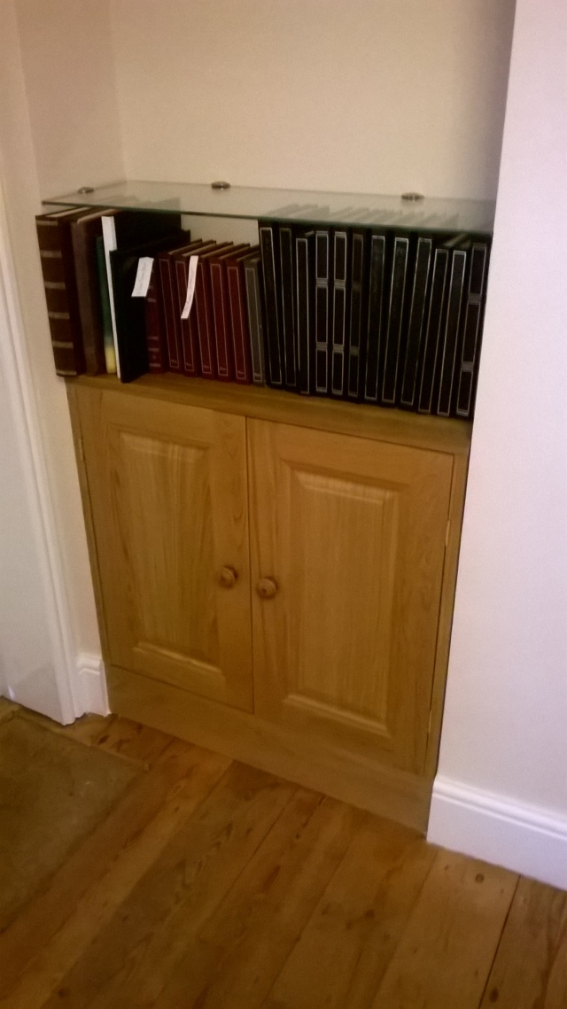 One of two new cupboards I've been building from solid oak...