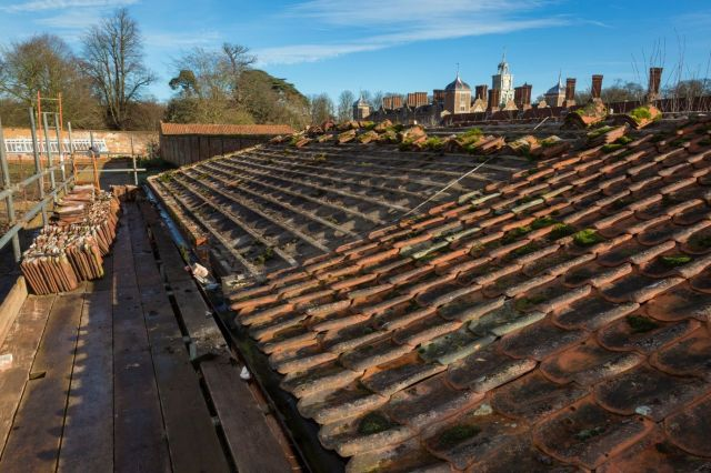 The roof well underway on the new 'bothy'- pic Blickling Estate