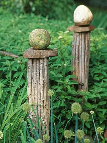 bundle sticks pedestal