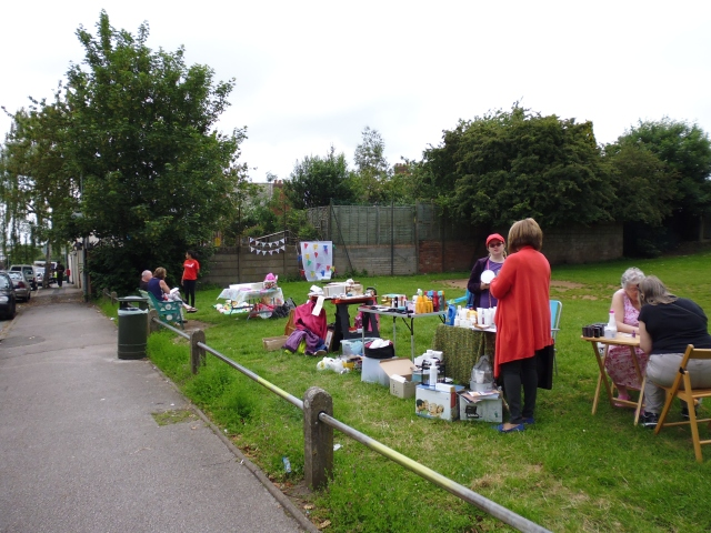 Local residents in Walsall hold a 'popup' event at Chuckery Village Green- one of the winning projects