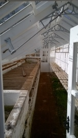 ...and inside- soon to be filled with seed trays?