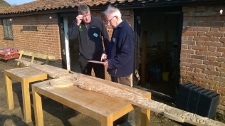 ...and Head Gardener Paul discussing its fixing with Peter..