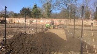 Before...the last piles of topsoil waiting to be shifted...