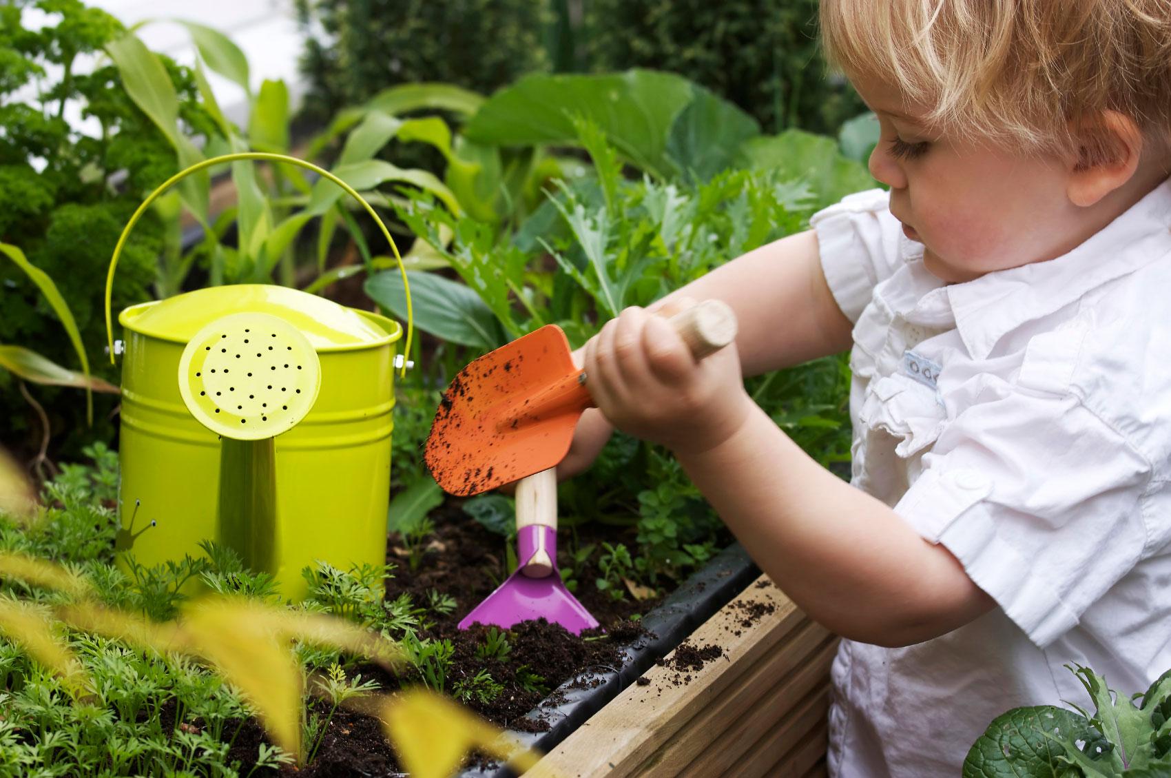 toddler-gardening