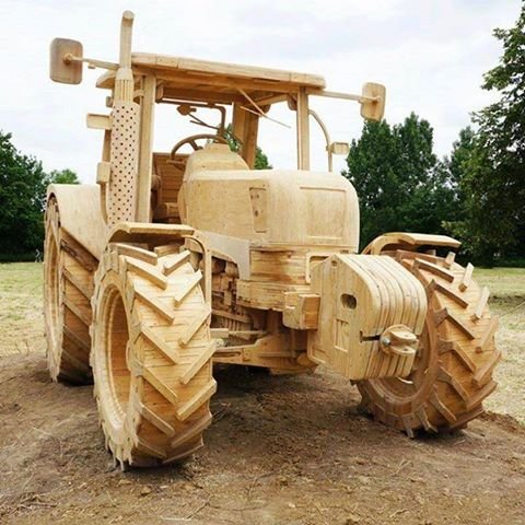 Amazing wooden tractor- but will it travel?