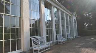 The lovely Orangery...scene of weddings