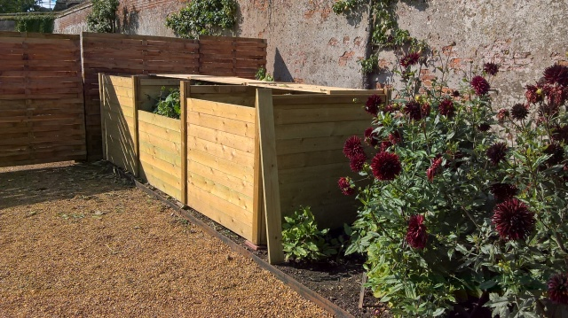 The new compost bins