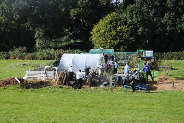 An active lunch hour at Reepham High School and College Allotment Project