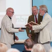Me receiving the award from the Chairman of Norfolk Wildlife Trust